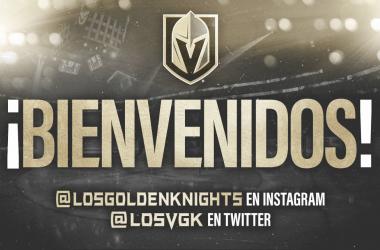 Cartel promocional de redes sociales en español de Las Vegas Golden Knights | Foto: NHL.com