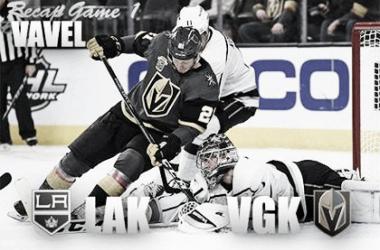 Los Angeles Kings vs Vegas Golden Knights Game 1 (Photomontage::Vavel)