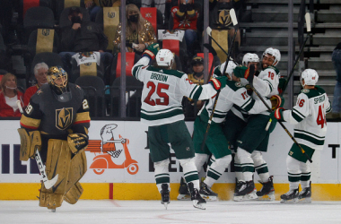Vegas Golden Knights lose game one in OT to Minnesota