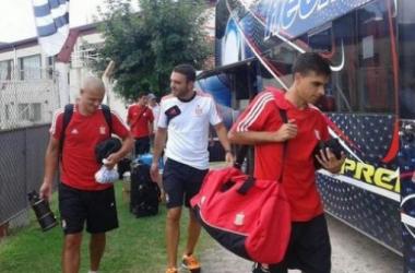 El plantel llegará a La Plata en el atardecer y será liberado hasta mañana (Imagen de archivo: edelpoficial.com.ar).