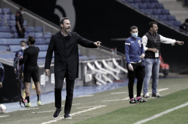 """Vicente Moreno: """"He visto un equipo intentando hacer daño al rival"""""""