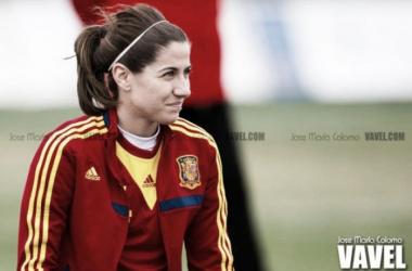 Vicky Losada cumple 50 partidos con la roja   Foto: José María Colomo - VAVEL
