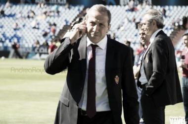 """Víctor Muñoz: """"Queríamos ganar, pero el Murcia ha sido un rival difícil"""""""