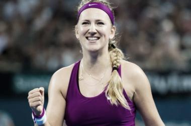 Azarenka, durante un partido. Foto: WTA