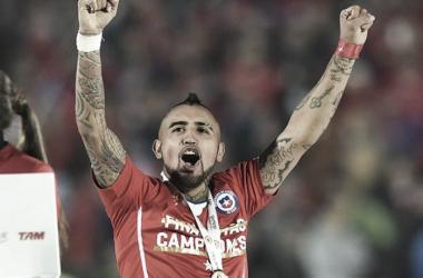 Vidal buscará llevar a La Roja a defender el título en la Copa América Centenario | Fuente: AFP