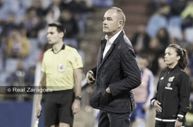 Víctor Fernández durante un encuentro disputado en La Romareda. // Foto: Web Real Zaragoza.