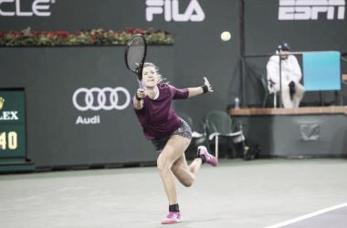 Victoria Azarenka durante un partido en Indian Wells. Foto: gettyimages.es