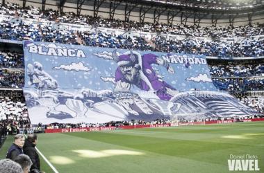 Afición vikinga del Real Madrid en el pasado clásico de diciembre I Foto: Daniel Nieto (VAVEL)
