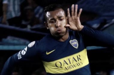 Villa celebra el gol del empate (2-2). Foto: captura de pantalla Fox Sports Premium.
