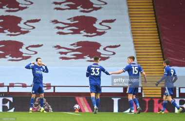 James Maddison celebrates his opening goal at Villa Park | Photo: Getty/ Michael Regan