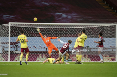 <b>Frustration for Jack Grealish as Nick Pope kept his effort out the last time the sides met (Via Pool, Getty Images)</b>