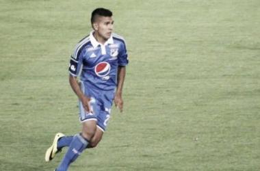 Sergio Villarreal, volante de Millonarios. Imagen: ligapostobon.com
