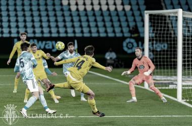 Manu Trigueros asistiendo a Moi Gómez para ampliar la ventaja en el marcador / FUENTE: Villarreal CF