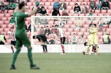 Los jugadores del Villarreal B celebran uno de los tantos. | FOTO: Athletic Club