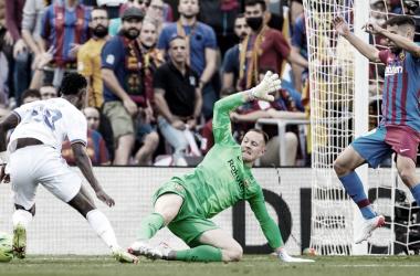 Vinicius Jr contra el Barcelona. Fuente: Real Madrid