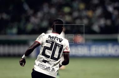 Vinicius Junior en su último partido con el Flamengo | Foto: EFE.