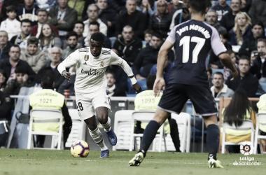 Vinicius en el partido frente al Valladolid | Foto: LaLiga.es