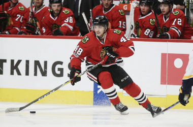 When the Arizona Coyotes added Vinnie Hinostroza recently they may have found just what they needed. (Photo: Dennis Wierzbicki-USA TODAY Sports)