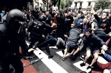 Violencia policial el pasado 1 de Octubre // Foto de eldinamo.cl