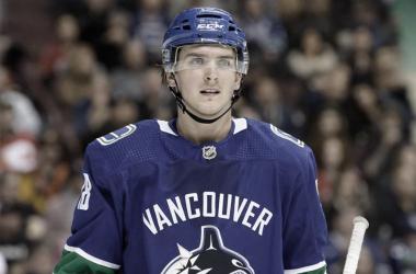 Jake Virtanen es separado de los Canucks por supuestas acusaciones sexuales | Foto: NHL.com