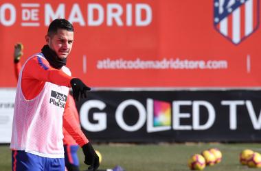 Vitolo vuelve a la convocatoria tras su lesión y podría tener minutos. Foto: Web oficial Atlético de Madrid