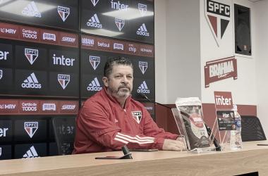Marcos Vizolli após São Paulo 1 a 1 Ceará (São Paulo FC / Divulgação)