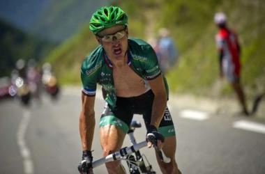 Voeckler vole vers sa seconde victoire au cours de ce Tour de France 2012.