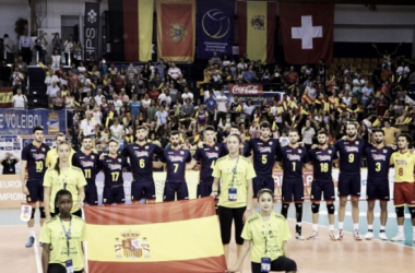 Selección española en el Centro Insular de Deportes de Las Palmas de Gran Canaria. Foto: rfevb.com
