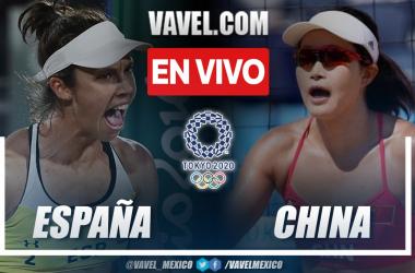 Resumen España 2-0 China en Vóley playa por los Juegos Olímpicos 2020