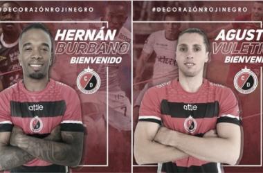 Cúcuta se sigue armando: Agustín Vuletich y Hernán Burbano son nuevos jugadores del 'motilón'