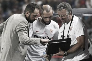 Pablo Machín perdió su primer partido oficial con el Sevilla. Foto: Sevilla FC.