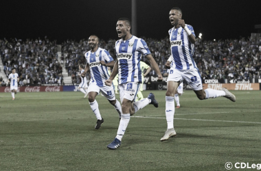 Óscar Rodríguez celebra su gol ante el FC Barcelona. | Foto: CD Leganés