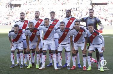 El equipo del Rayo Vallecano. Fotografía: La Liga