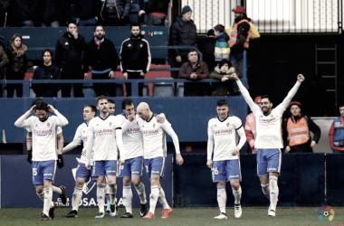 El Real Zaragoza vivió su mejor momento de la temporada en los meses de febrero y marzo | Foto: Real Zaragoza