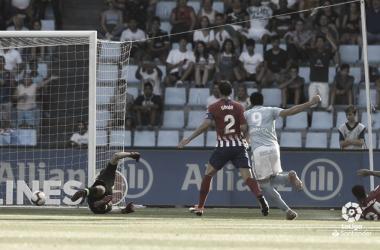 Maxi Gómez anotando el 1-0 en el partido de la primera vuelta | Fuente: LaLiga