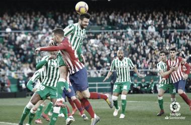 La igualdad manda en los enfrentamientos entre Betis y Atlético de Madrid