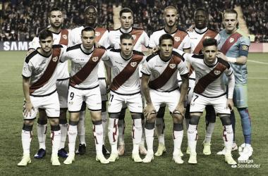 Formación del Rayo Vallecano para un partido | Fotografía: La Liga