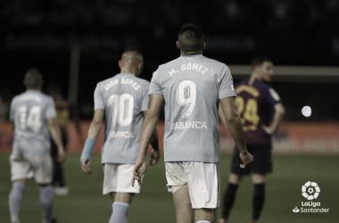 Maxi Gómez y Iago Aspas tras el 1-0. | Fuente:LaLiga