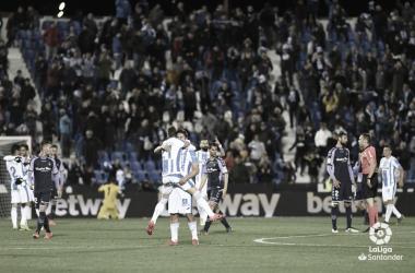 El Leganés celebra un gol en el último segundo // Foto: La Liga