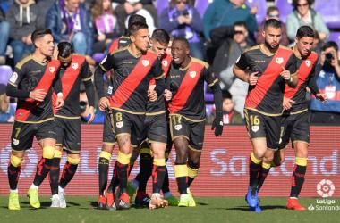 El Rayo celebrando un gol. Fotografía: La Liga