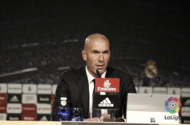 Zidane en rueda de prensa. fuente: LaLiga