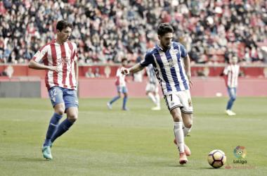 Sobrino marcó frente al Sporting su único gol como albiazul  |  Fotografía: La Liga