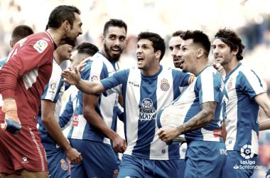 Los jugadores pericos celebran un gol durante un encuentro de esta temporada / Foto: LaLiga.