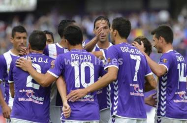 El equipo celebra un tanto. (Fotografía: lfp.es).