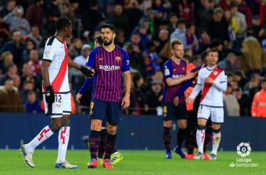 Jugadores de Barcelona y Rayo Vallecano | Fotografía: LaLiga Santander