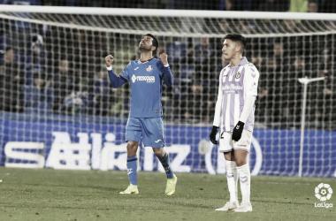 Ángel celebrando el gol que le daba la victoria al Getafe, Fotografía: LaLiga