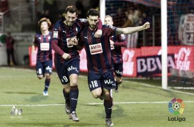 El Eibar celebra un gol| Fuente: LaLiga