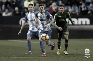 Iván Alejo en el partido ante la UD Las Palmas. | Foto: LaLiga