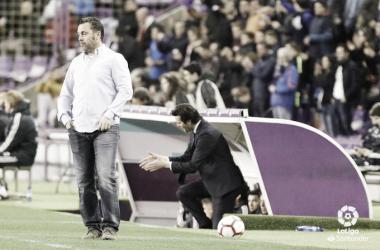 Sergio González a pie de campo en el partido frente al Real Madrid, Fotografía: LaLiga Santander