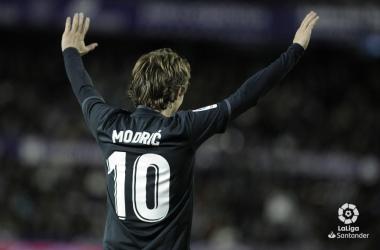 Luka Modric fue el mejor jugador del Real Madrid ante el Valladolid